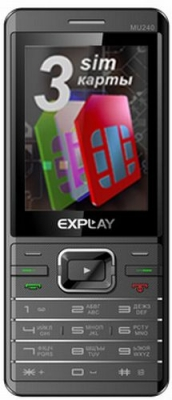 Классический телефон Explay MU240 с 3 сим картами.