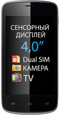 Классический телефон Explay T400 с сенсорным экраном.